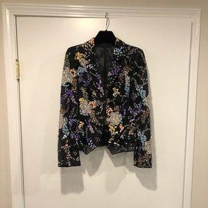 Designer sequin embellished jacket